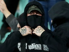 Oct. 14, 2019: A Bulgaria fan seen during the match against England.