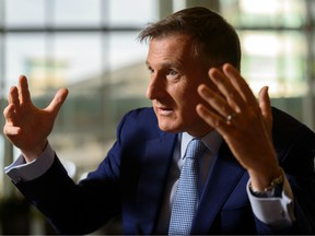 The leader of the PeopleÕs Party of Canada (PPC) Maxime Bernier during an interview with Postmedia reporter Alanna Smith at Calgary Airport Marriott on Thursday, September 26, 2019.