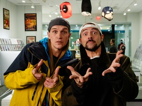 Kevin Smith as Silent Bob and Jason Mewes as Jay.