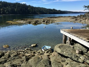 With a small, rustic cabin, a modest boat house and a sea side deck, Jelina Island provides an opportunity to create a peaceful residence on the cusp of beach that's home to wildlife such as sea otters and Killer whales.