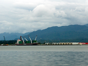 The harbour at Kitimat, B.C., near where the Cedar LNG project would ship its natural gas to Asia.