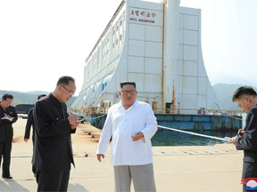 North Korean leader Kim Jong Un inspects the Mount Kumgang tourist resort, North Korea, in this undated picture released by North Korea's Central News Agency (KCNA) on October 23, 2019.