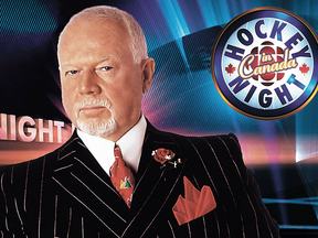 The status quo, until this week: Don Cherry on the set of Hockey Night in Canada when it was on CBC.