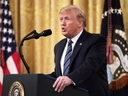 U.S. President Donald Trump speaks during an event at the White House on Nov. 7, 2019