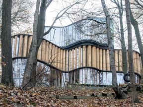 The curvey and unique 194 Roxborough Drive in Toronto. also known as Integral House, has been on the market for more than six months.
