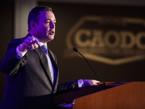 Alberta Premier Jason Kenney speaks at the Canadian Association of Oilwell Drilling Contractors meeting in Calgary, Alta., Wednesday, Nov. 13, 2019.THE CANADIAN PRESS/Jeff McIntosh