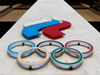 The logo of Russia's Olympic Committee is seen at its headquarters in Moscow.