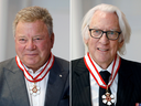 William Shatner was promoted to the rank of Officer in the Order of Canada; while Donald Sutherland was promoted to the rank of Companion in the Order of Canada.