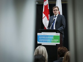 Federal Environment Minister Jonathan Wilkinson announces funding for climate action at the University of Calgary in Calgary, Alta., Tuesday, Dec. 17, 2019.