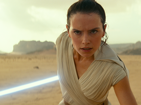 Daisy Ridley as Rey in Star Wars: The Rise of Skywalker.
