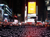 Protesters demand an end to Donald Trump's presidency at Times Square on Dec. 17, 2019 in New York City.