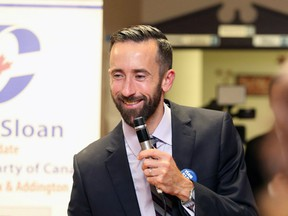 Hastings-Lennox and Addington MP Derek Sloan announced his bid for the leadership of the Conservative Party of Canada on Wednesday, Jan. 22, 2020.