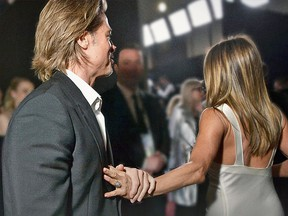 Brad Pitt has hit headlines after bumping in to Jennifer Aniston, to whom he was married from 2000 to 2005, at galas such as the Screen Actors Guild Awards Sunday.