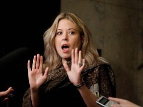 Conservative Member of Parliament Michelle Rempel Garner reacts prior to a national caucus meeting on Parliament Hill in Ottawa, Ontario, Canada January 24, 2020.