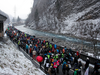 Climate activists take part in a march to highlight issues surrounding climate change at the World Economic Forum Davos (WEF), through the Chlus gorge along the Landquart river near Landquart, Switzerland January 19, 2020.