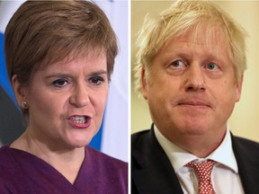 British Prime Minister Boris Johnson wrote to Scottish First Minister Nicola Sturgeon on Tuesday refusing her request to be given the powers to hold another Scottish independence referendum.