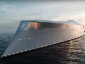A concept of the hydrogen-powered yacht commissioned by Bill Gates.