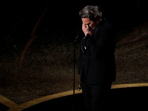"""Joaquin Phoenix wins the Oscar for Best Actor in """"Joker"""" at the 92nd Academy Awards in Hollywood, Los Angeles, California, U.S., February 9, 2020."""