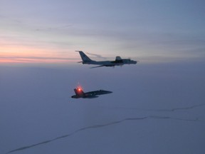 Canadian and American jets intercept two Russian Tu-142 maritime reconnaissance aircraft entering the Alaskan Air Defense Identification Zone on Monday, March 9th.