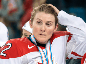 "Hayley Wickenheiser says she is ""just really proud of what Canada did,"" referring to the Canadian Olympic Committee announcing Canada will not send a team in July to the 2020 Olympics due to the coronavirus outbreak."