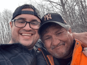 Jacob Sansom, 39, and his uncle Morris Cardinal, 57, were found dead with gunshot wounds Saturday morning on a rural road near Glendon, Alberta.