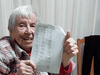 Part of Lucy Jarratt's social distancing routine involves beating her children at Scrabble. Lucy is 102.