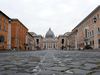 A view of St. Peter's Square, on the fourth day of an unprecedented lockdown across of all Italy imposed to slow the outbreak of coronavirus, March 13, 2020.