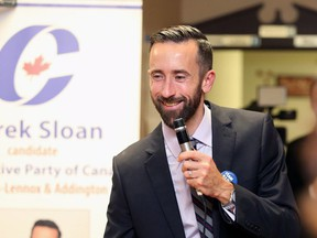 Derek Sloan, a rookie Conservative MP from eastern Ontario, is one of four candidates to have qualified for the race's final ballot.