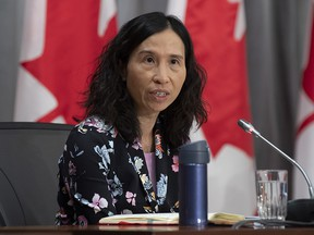 Chief Public Health Officer Theresa Tam speaks at a news conference in Ottawa, Wednesday, April 15, 2020.