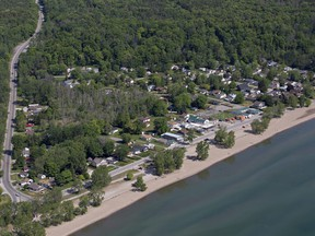 An aerial view of Turkey Point, Ontario a popular beach destination on Lake Erie. Photographed on Tuesday May 31, 2016.