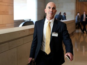 U.S. State Department Inspector General Steve Linick departs after briefing House and Senate Intelligence committees at the U.S. Capitol in Washington, U.S. October 2, 2019.