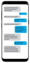 Here's an example of how the contact-texting system could be used to help people suspected of having COVID-19.