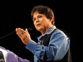 Chief Clarence Louie of the Osoyoos Indian Band, which has benefitted from a loan from the First Nations Finance Authority.Chief Clarence Louie of the Osoyoos Indian Band, which has benefitted from a loan from the First Nations Finance Authority.