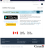 A screenshot of a counterfeit Health Canada website for a bogus COVID-19 contact-tracing app that hackers designed to seize control of a phone and hold its contents for ransom.
