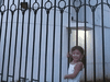 Hannah Wu, wanting to see her father, Wu Yuren, at a watchtower at the Chaoyang District Detention Centre in 2010. She was not allowed in.