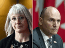 Health Minister Patty Hajdu and Treasury Board President Jean-Yves Duclos.