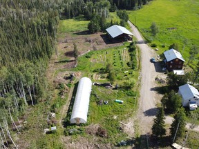 A farm near Dawson City, Yukon, is shown in this undated handout photo. Chief Simon Mervyn of Na-Cho Nyak Dun First Nation said the effects of climate change on Yukon's food supply were top of mind when his community resolved to purchase farm land and infrastructure near their nation about 230 kilometres east of Dawson City.