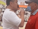 A man in Mississauga on July 7 is seen on a video image screaming at T&T store employees after he was approached for not wearing a mask.
