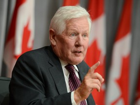 Bob Rae attends a press conference regarding his appointment as the next ambassador to the United Nations, on Parliament Hill in Ottawa on July 6.
