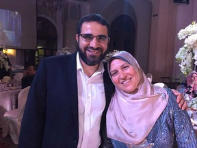 The family of a Canadian man detained in Egypt is calling on the federal government to step in after they were informed that he is being held in a notorious prison without charge. Yasser Ahmed Albaz and his wife Safaa Elashmawy are seen in an undated handout photo.