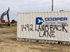 A sign painted by on a bin during a protest that shut down a residential development underway in the south end of Caleonia, Ont., Tuesday August 4, 2020