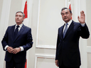 Canada's Foreign Minister Francois-Philippe Champagne meets with China's State Councillor Wang Yi in Rome, Italy, August 25, 2020.