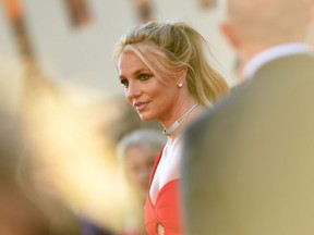 """Performer Britney Spears at the premiere of Sony Pictures' """"Once Upon a Time... in Hollywood"""" at the TCL Chinese Theatre in Hollywood, California on July 22, 2019."""