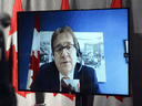 Environment Minister Jonathan Wilkinson speaks via video link during a press conference in Ottawa on May 14, 2020.