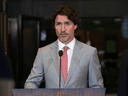 Prime Minister Justin Trudeau speaks during a news conference on Parliament Hill August 18, 2020 in Ottawa.