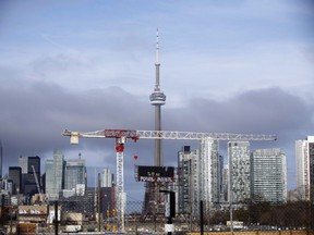 The CN Tower can be seen in the Toronto skyline in Toronto, Ontario on April 25, 2017. The economic uncertainty wrought by the COVID-19 pandemic has turned Toronto's rental market upside down, industry insiders said. Power once wielded exclusively by landlords has been passed to their would-be tenants, giving renters the chance to negotiate lower prices - and bigger perks.