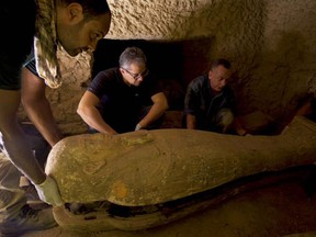 The cache of coffins is special because the sarcophagi have remained intact for millenia, their contents sealed off from the world