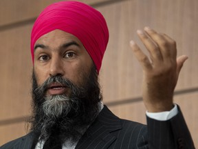 """Video posted to social media on Friday shows Jagmeet Singh being followed down the street in front of Parliament Hill by a man who tells Singh that the next time they see each other, the two will """"have a dance."""""""