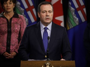 Alberta Premier Jason Kenney updates media on measures taken to help with COVID-19, in Edmonton on March 20, 2020. Alberta Premier Jason Kenney says a recent rise in active COVID-19 cases is concerning, but government micromanaging isn't the answer to curbing the spread.
