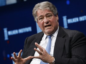 Leon Black, chairman and chief executive officer of Apollo Global Management LLC, speaks during the Milken Institute Global Conference in Beverly Hills, California, U.S., on Tuesday, May 1, 2018.